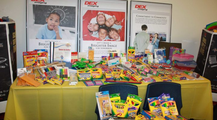 DEX Imaging School Supply Drive