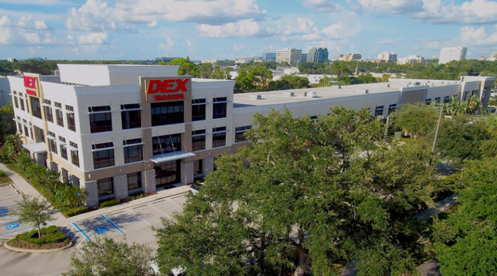Aerial View: DEX Imaging Headquarters - Tampa Bay