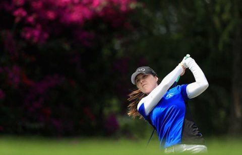 Brittany Altomare Tees Off