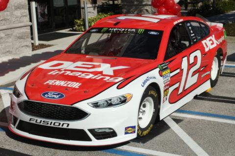 Ryan Blaney Sponsorship: #12 DEX Ford, 3/4 view