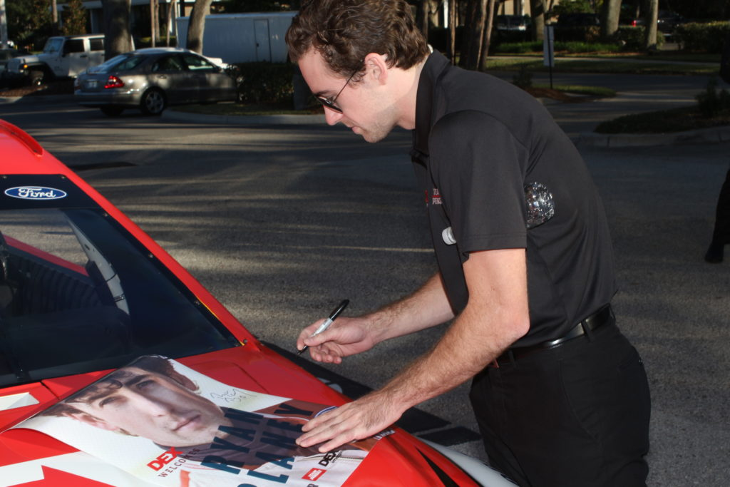 Ryan Blaney Sponsorship: Signing Autographs on the hood of the #12 DEX Ford