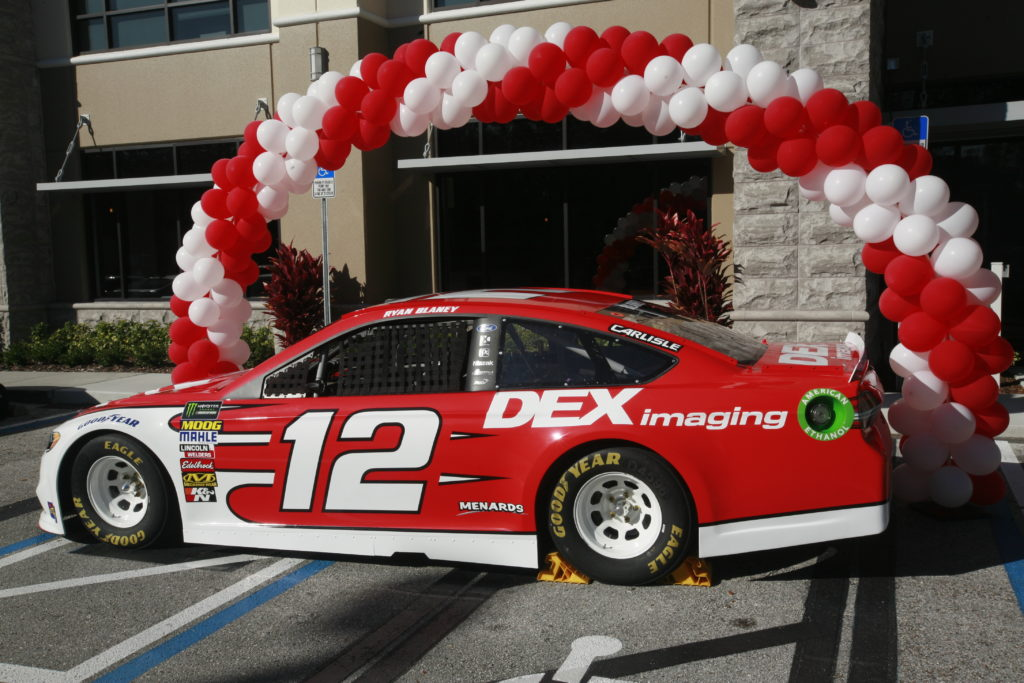 Ryan Blaney Sponsorship: #12 DEX Ford, side view