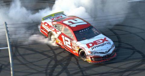 Harrison Burton Wins, Burns Out at Pocono Raceway