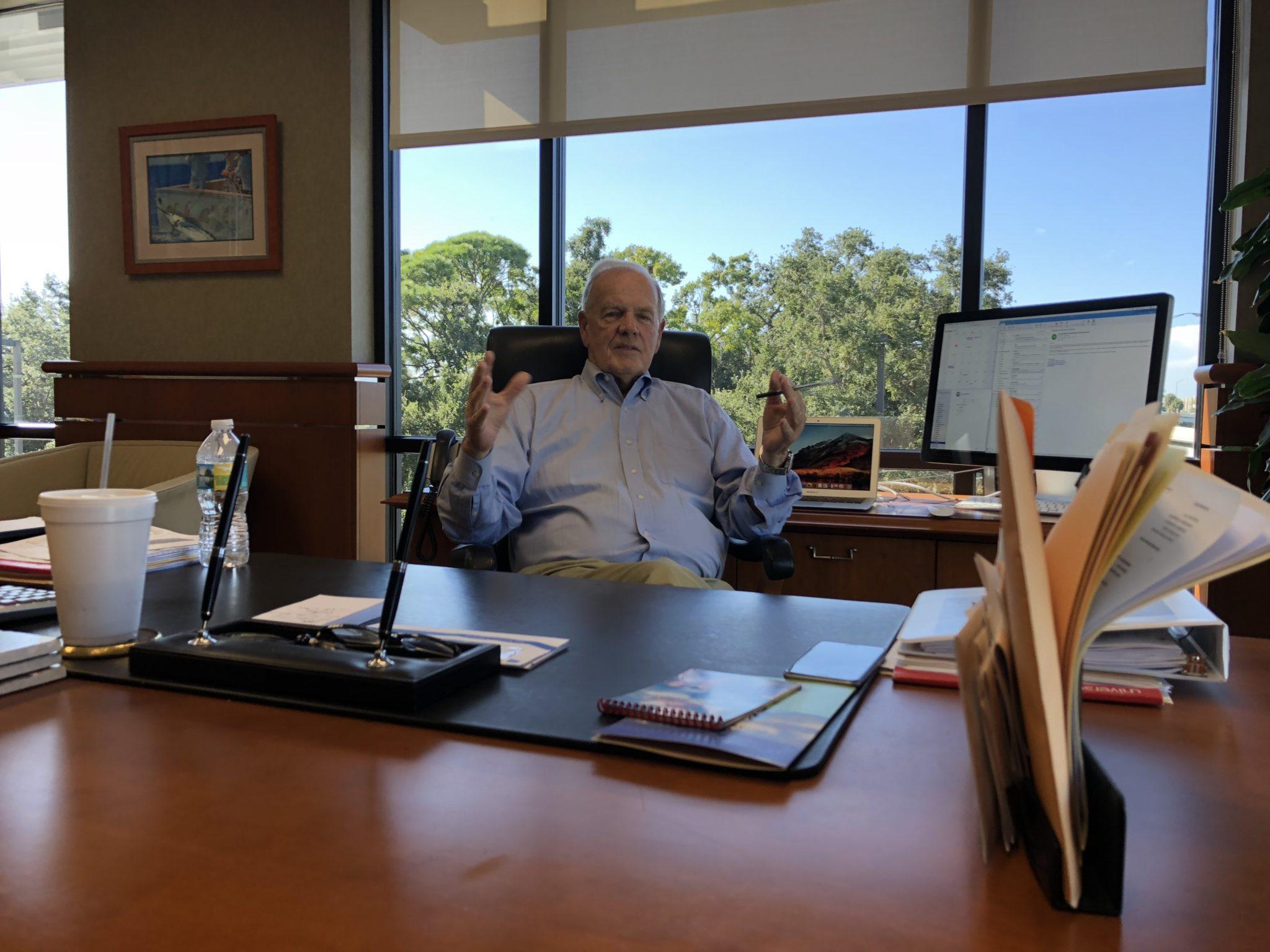 Dan Doyle Sr. at desk