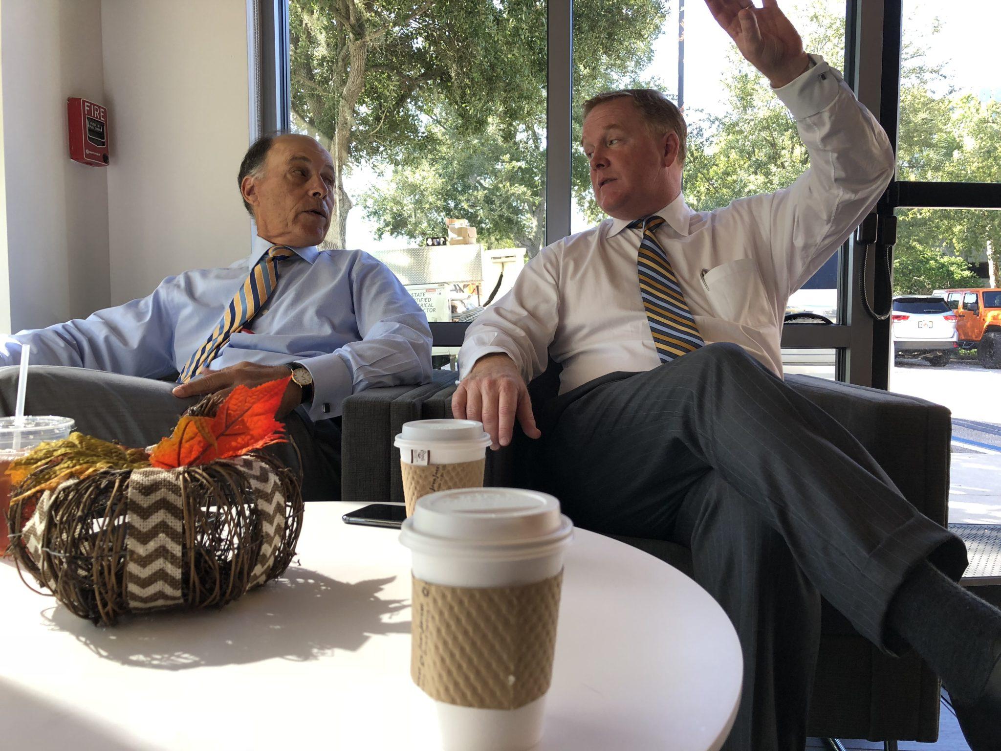 Dan Doyle Jr. and Paul Natale Talking at DEXpresso Cafe