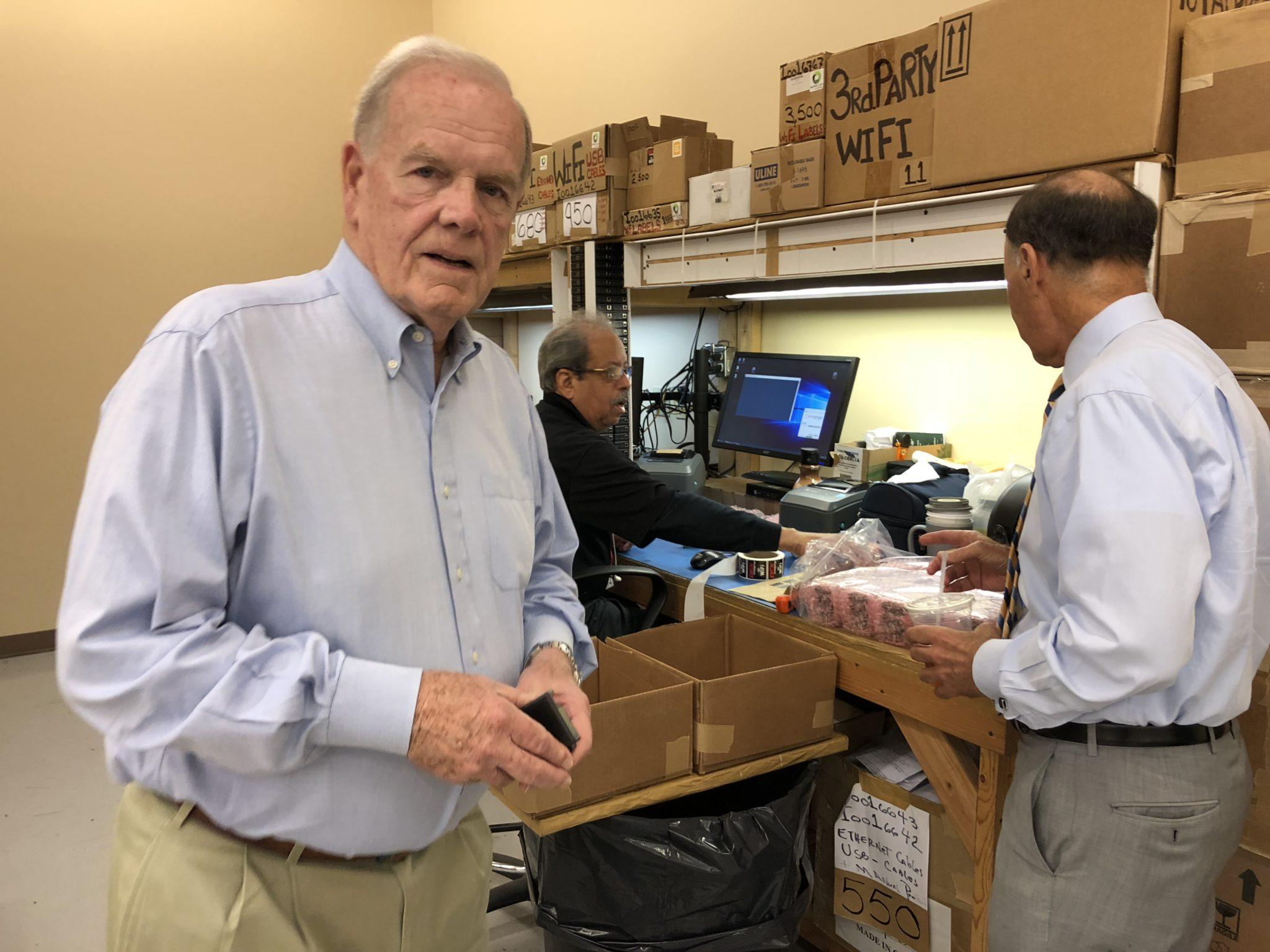 Dan Doyle Sr. in Parts Department